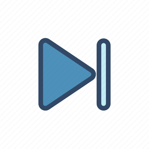 film, movie, multimedia, next, player, track icon