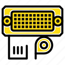 adapter, connection, data, input icon