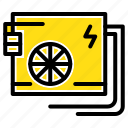 ac, computer, part, power, supply icon