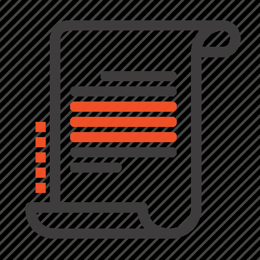decree, novel, scenario, screenplay icon