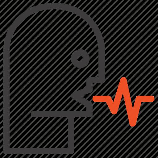 Audio, human, person, speech, talk icon - Download on Iconfinder