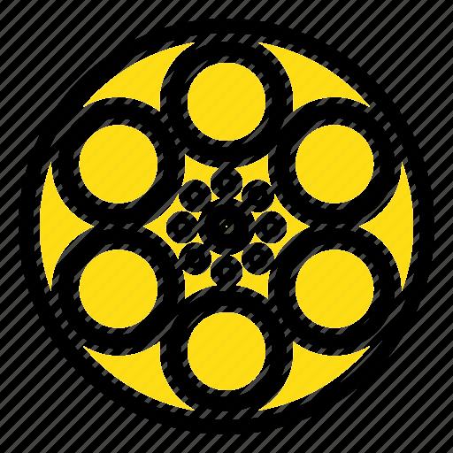 film, movie, reel, tank, tape icon