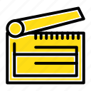 action, board, clapboard, clapper, clapperboard icon