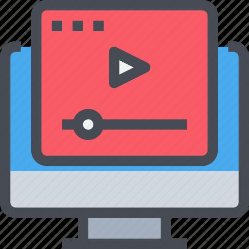computer, media, movie, multimedia, player, video icon