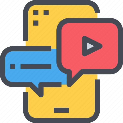 media, mobile, movie, multimedia, player, smartphone, video icon