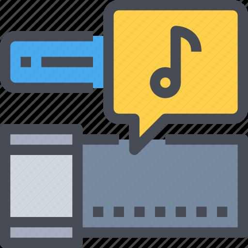 audio, cinema, film, multimedia, music, sound icon