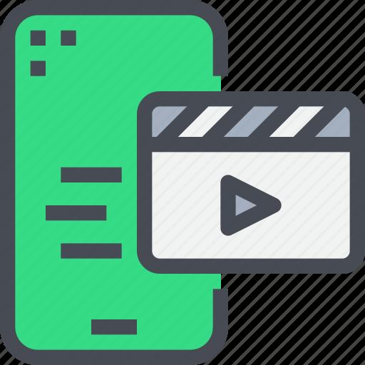 film, mobile, multimedia, smartphone, video icon