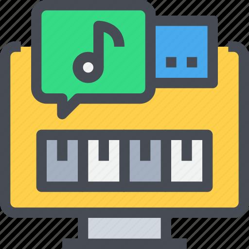 audio, computer, edit, music, soundtrack icon