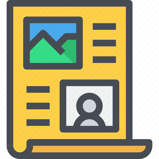content, presentation, story, storyboard, text icon