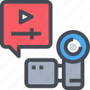 cam, camera, media, movie, video, video camera icon