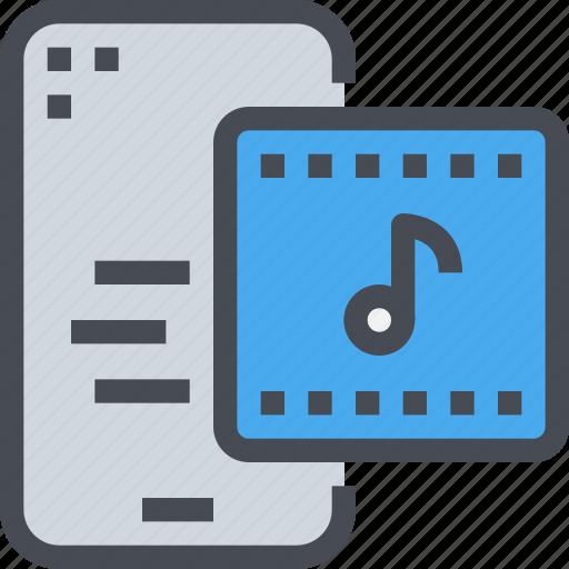audio, mobile, music, play, smartphone, sound icon