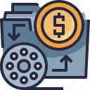 budget, film, production, video icon