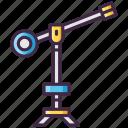 camera, crane, film, movie icon