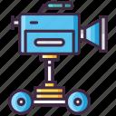 camera, dolley, film, movie icon