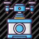 camera, drone, film, movie icon