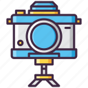 camera, photography, tripod, video icon