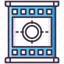 countdown, film, movie, opening, video icon