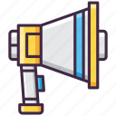 announcement, loudspeaker, megaphone, promotion icon