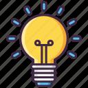 bulb, idea, light, main