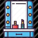 make, mirror, movie, up icon