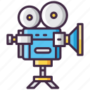 camera, film, movie, professional icon
