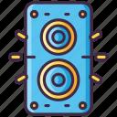 movie, music, sound, speakers icon