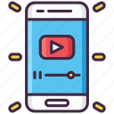 media, play, video, youtube icon