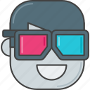 3d, 3d glasses, film, glasses, movie icon