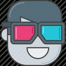 3d, 3d glasses, film, glasses, movie icon