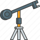 camera, crane, film, movie, production icon