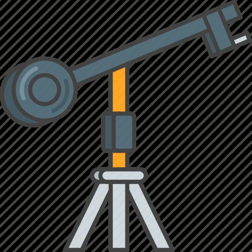 camera, crane, film, movie, production icon