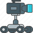 camera, dolley, film, movie, production, video icon