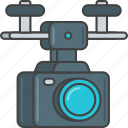 camera, drone, film, movie, production, video icon