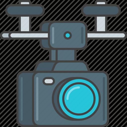 camera, drone, film, movie, production, video icon