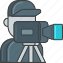 camera, film, movie, operator, production, staff, video icon