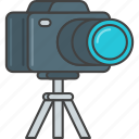 camera, film, movie, production, tripod, video icon