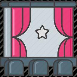 audience, cinema, film, movie, premiere, show, theater icon
