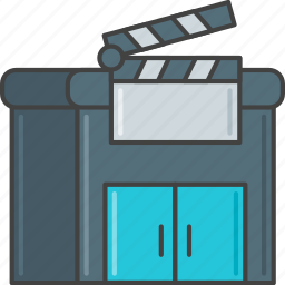 film, hollywood, movie, production, studio icon