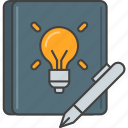 brainstorm, idea, journal, note, notebook, write icon