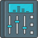 audio, equalizer, mixing, music, song, sound, soundtrack icon
