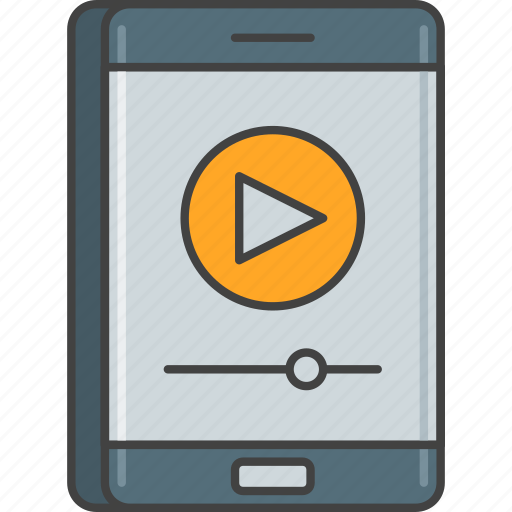 mobile, phone, player, smartphone, video player icon