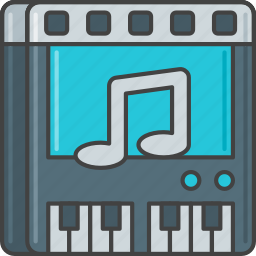 audio, key, music, piano, sound, soundtrack, track icon