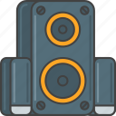 audio, loudspeaker, music, speaker, speakers icon