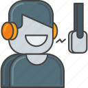 actor, audio, dj, radio, sound, speech, voiceover icon