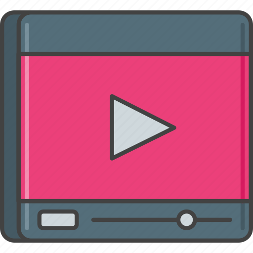 media player, movie, video, video player, youtube icon