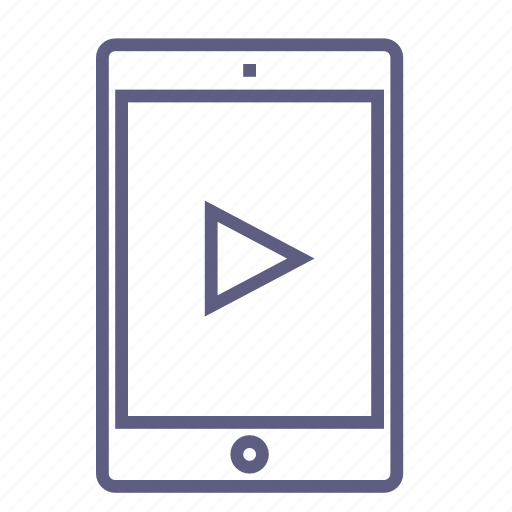 board, device, movie, play, player, video, watch icon