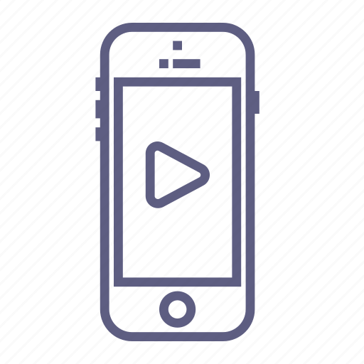 device, movie, phone, play, player, video, watch icon