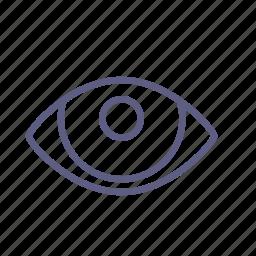eye, look, optic, orb, view, visual, watch icon