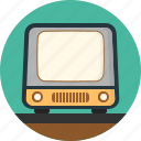 classic, electronics, old, screen, television, tv, vintage icon