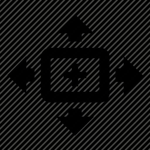 control, magnifier, move, options, pan, tilt, zoom icon